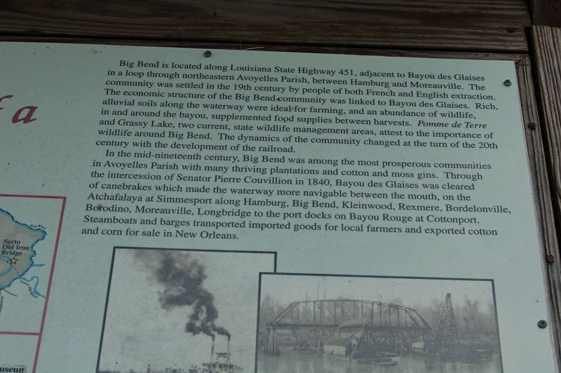 Big Bend: Development of a Community Marker image. Click for full size.