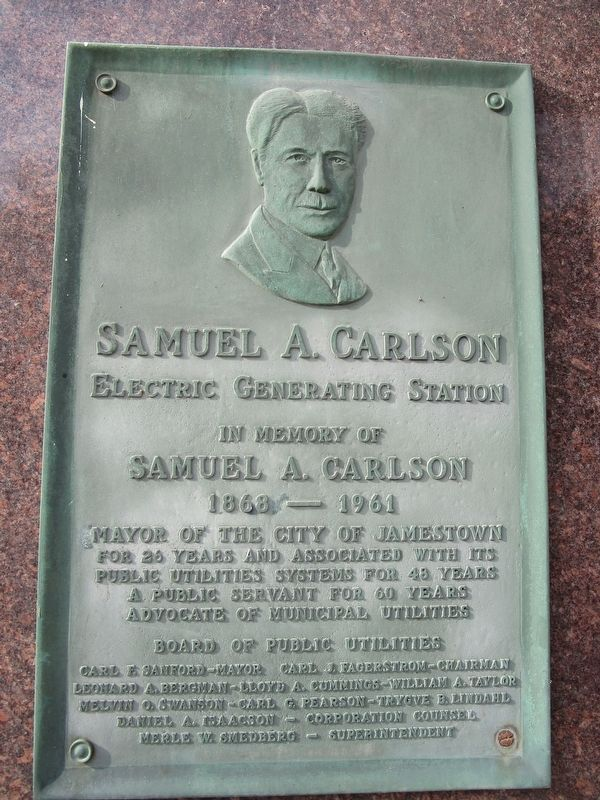 Samuel A. Carlson Marker image. Click for full size.