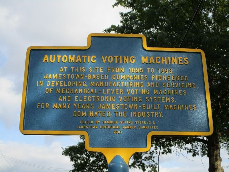 Automatic Voting Machines Marker image. Click for full size.
