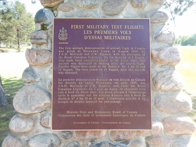 First Military Test Flights Marker image. Click for full size.