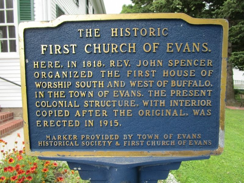 The Historic First Church of Evans Marker image. Click for full size.
