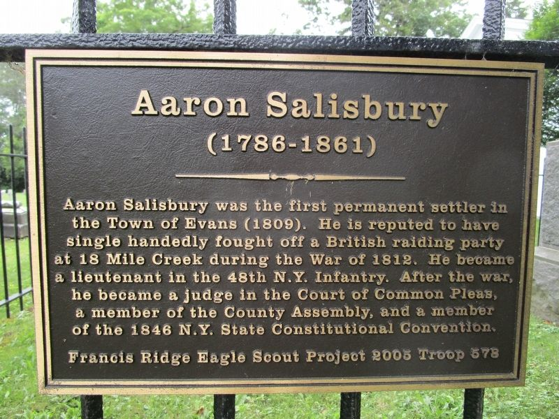 Aaron Salisbury Marker image. Click for full size.