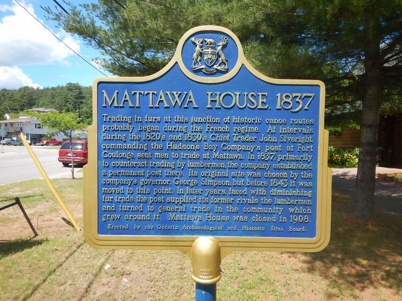 Mattawa House 1837 Marker image. Click for full size.