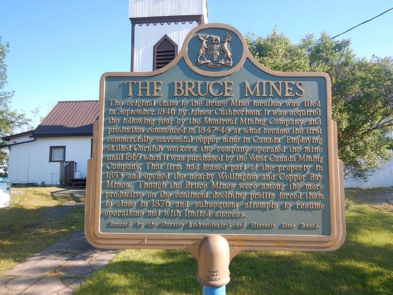 The Bruce Mines Marker image. Click for full size.