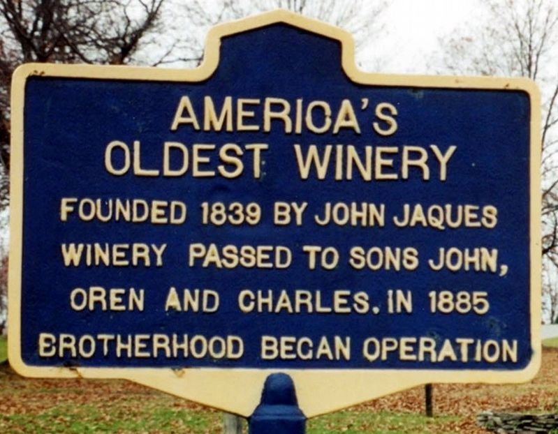 America's Oldest Winery Marker image. Click for full size.