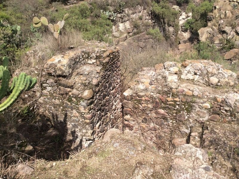 A detail view of the mill remains. image. Click for full size.