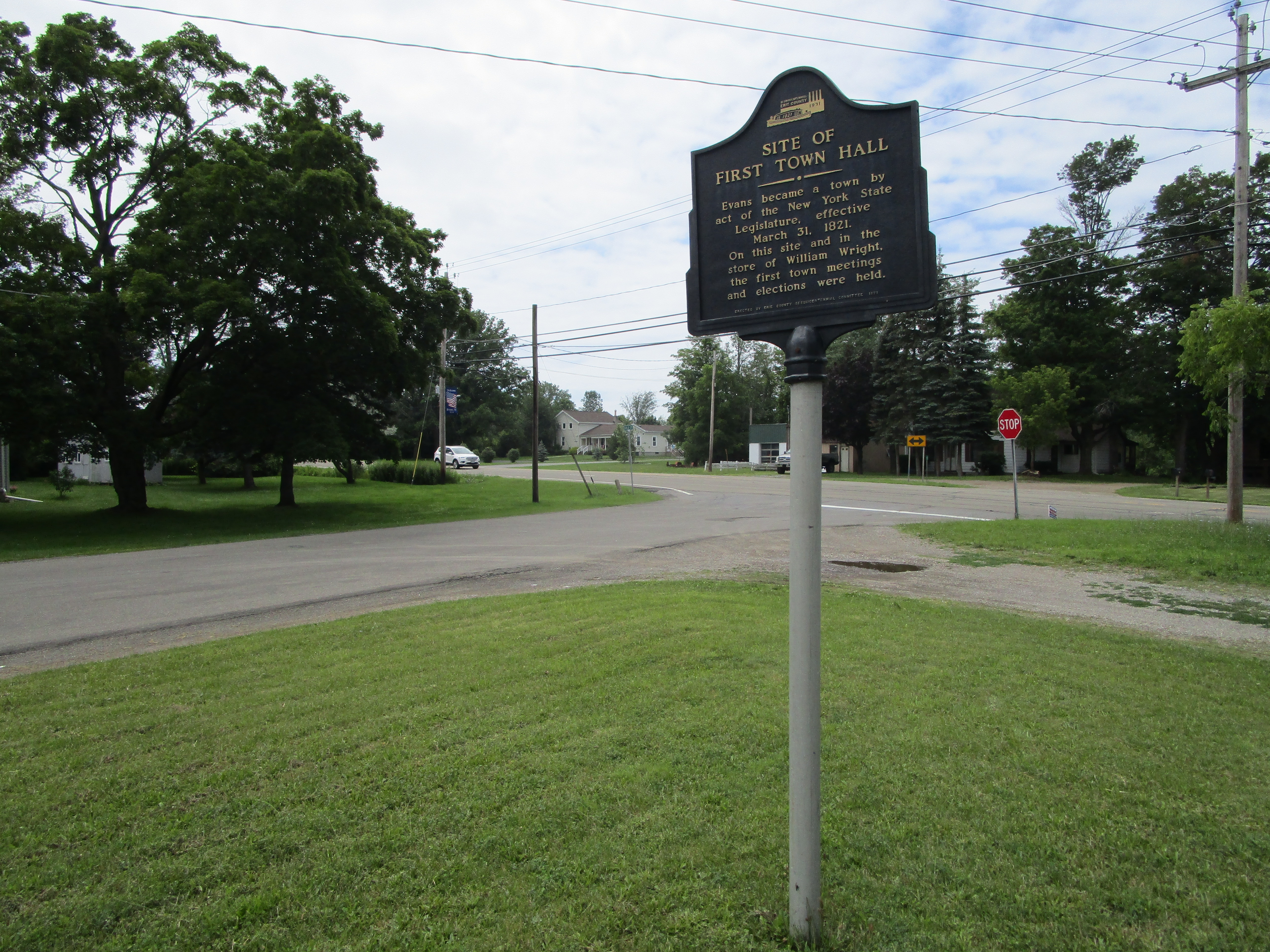 Site of First Town Hall Marker