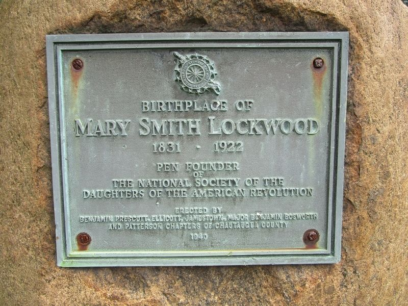 Birthplace of Mary Smith Lockwood Marker image. Click for full size.