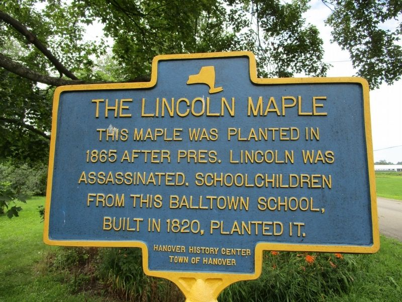 The Lincoln Maple Marker image. Click for full size.