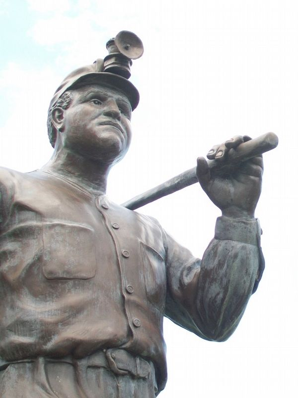 A Tribute to Anthracite Coal Miners Sculpture Detail image. Click for full size.