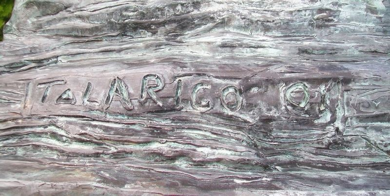 A Tribute to Anthracite Coal Miners Sculptor's Mark image. Click for full size.