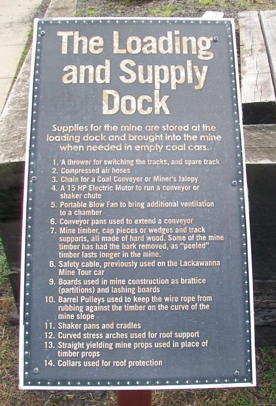 The Loading and Supply Dock Marker image. Click for full size.