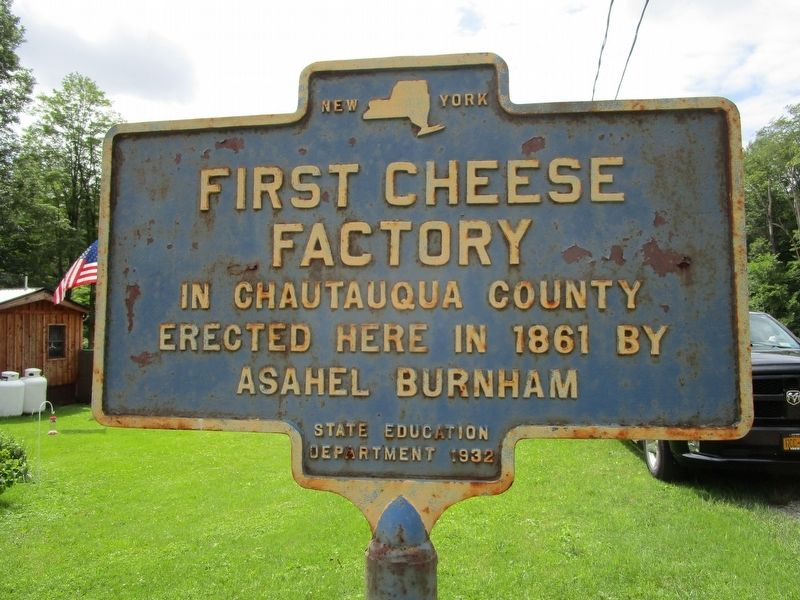 First Cheese Factory Marker image. Click for full size.