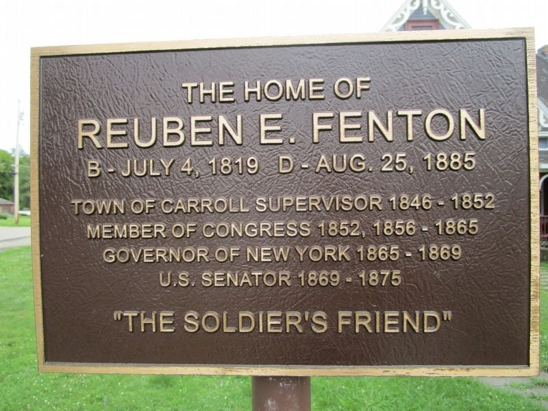 The Home of Reuben E. Fenton Marker image. Click for full size.
