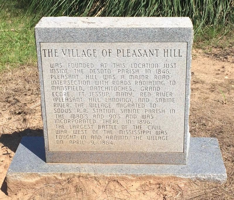 The Village of Pleasant Hill Monument (Front) image. Click for full size.
