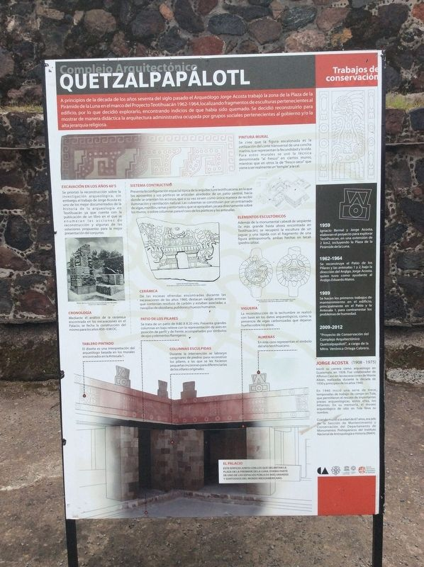 The Quetzalpapálotl Architectural Complex Marker image. Click for full size.