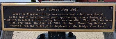 South Tower Fog Bell Marker image. Click for full size.