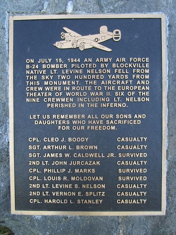 B-24 Bomber Crash Marker/Memorial image. Click for full size.
