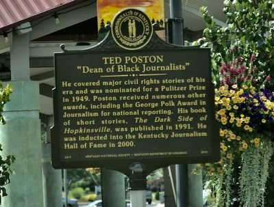 "Ted Poston ""Dean of Black Journalists"" Marker image. Click for full size."