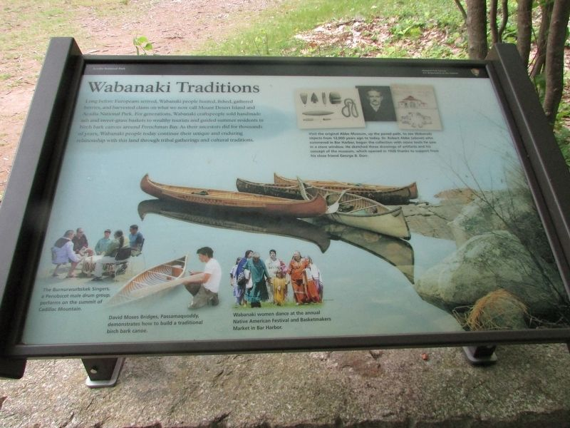 Wabanaki Traditions Marker image. Click for full size.