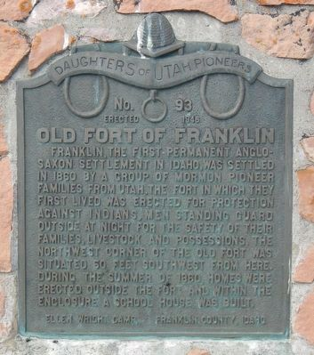 Old Fort of Franklin Marker image. Click for full size.