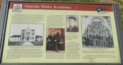 Oneida Stake Academy Marker image. Click for full size.