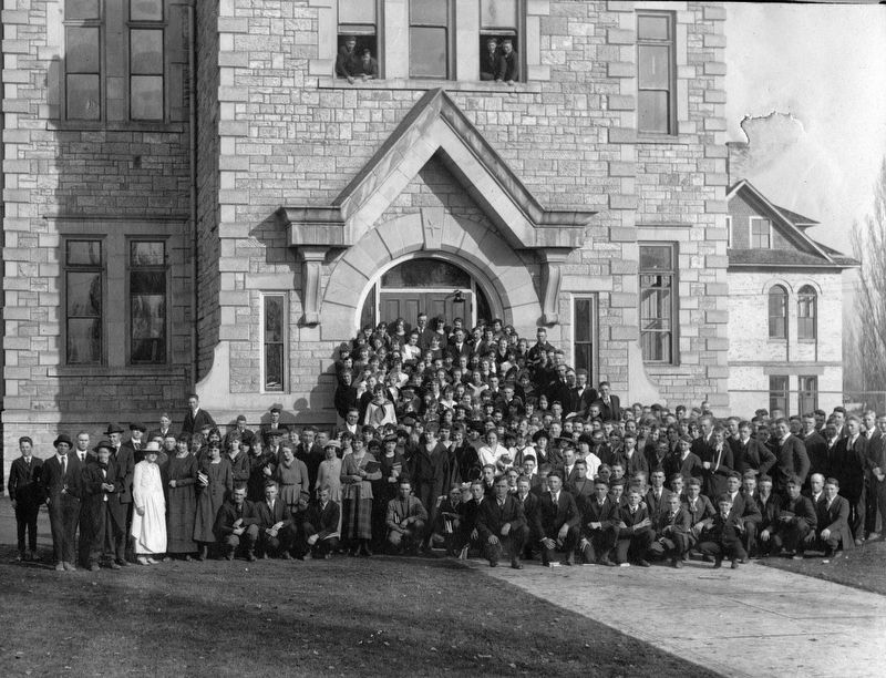 Oneida Stake Academy in 1924 image. Click for full size.