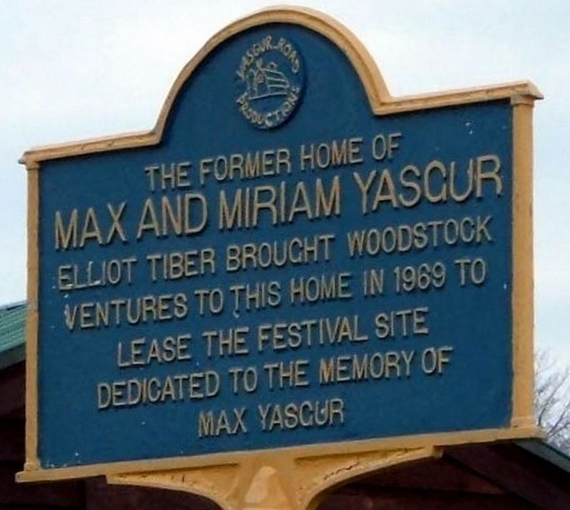 Max and Miriam Yasgur Marker image. Click for full size.