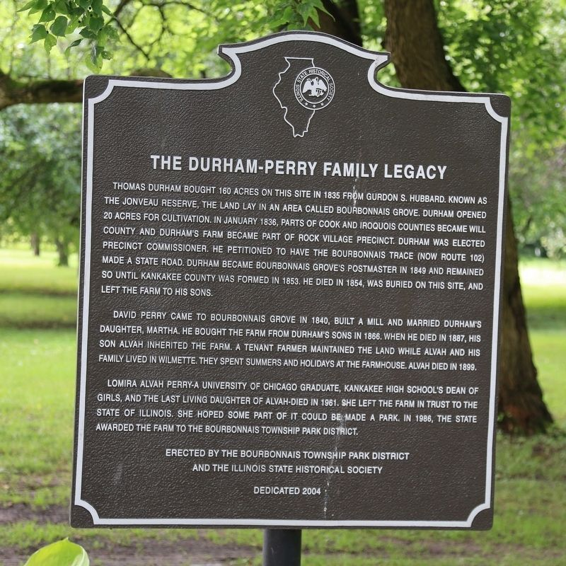The Durham-Perry Family Legacy Marker image. Click for full size.
