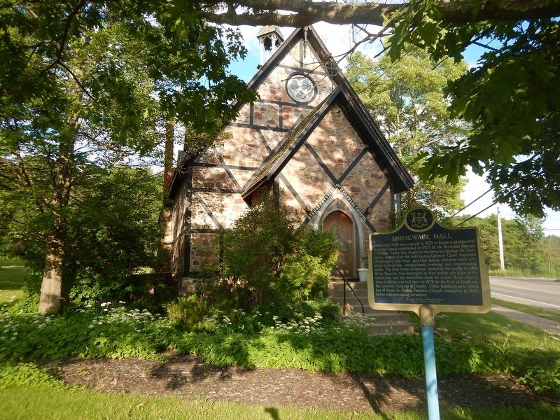 Wideview of Shingwauk Hall Marker image. Click for full size.