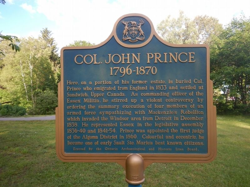 Col. John Prince Marker image. Click for full size.