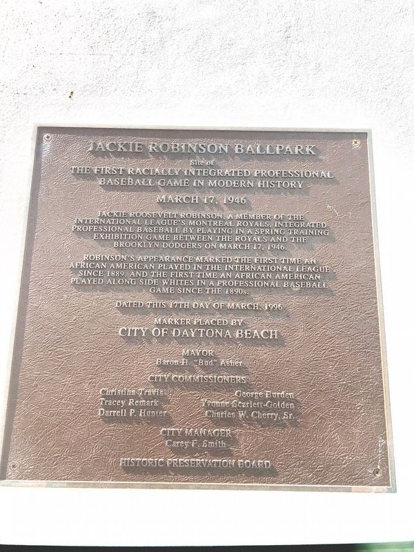 Jackie Robinson Ballpark Marker image. Click for full size.