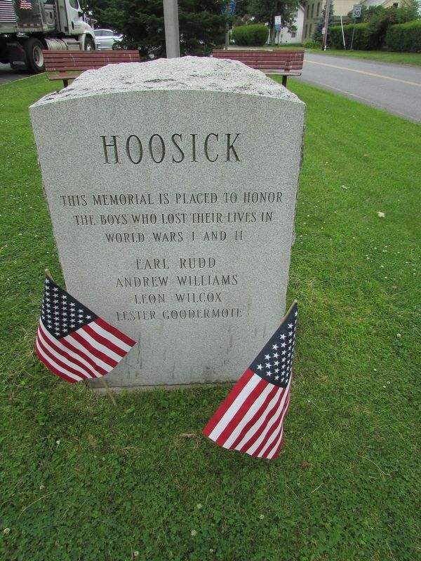 Hoosick WW I & II Memorial Marker image. Click for full size.