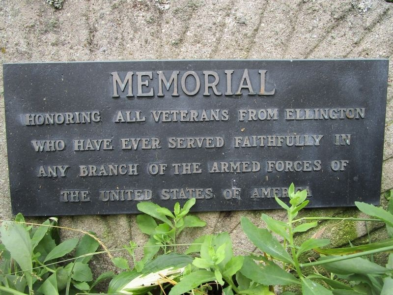 Ellington Veterans Memorial image. Click for full size.