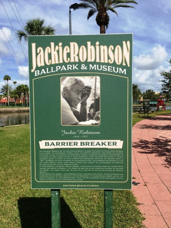 Jackie Robinson Marker image. Click for full size.