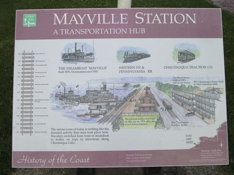 Mayville Station Marker image. Click for full size.