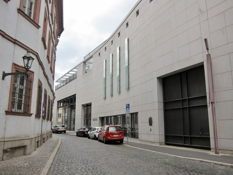 Former Synagogue Marker - Wide View, Looking West Along Domschulerstrasse image. Click for full size.