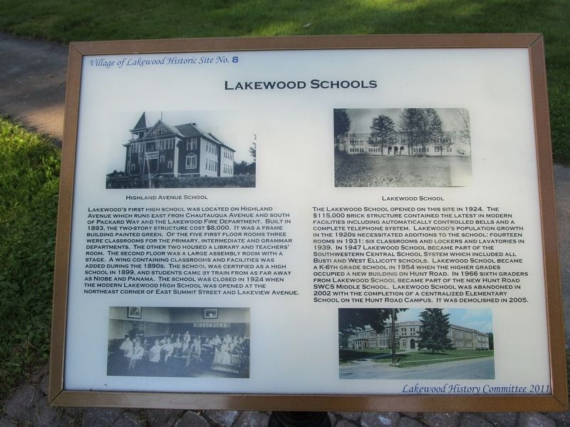 Lakewood Schools Marker image. Click for full size.