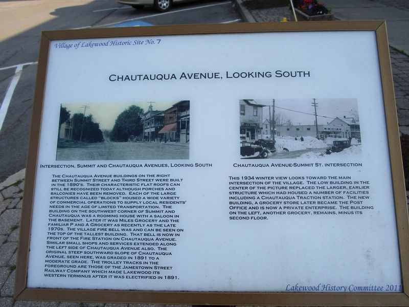 Chautauqua Avenue, Looking South Marker image. Click for full size.
