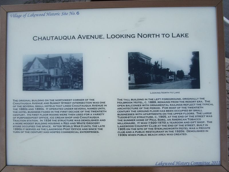 Chautauqua Avenue, Looking North Marker image. Click for full size.