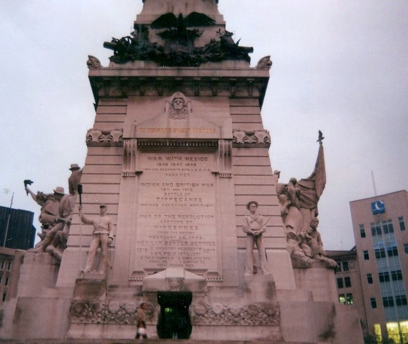 Soldiers and Sailors Monument-Front panel image. Click for full size.