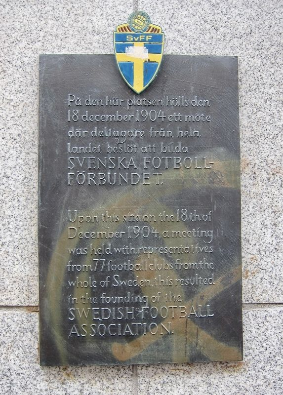 Svenska Fotbollförbundet / Swedish Football Association Marker image. Click for full size.