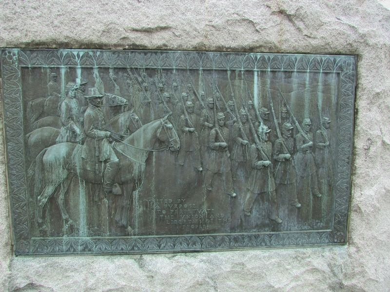 Rear of Bennington Civil War Monument Marker image. Click for full size.