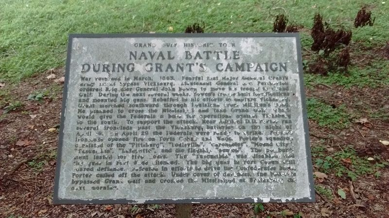 Naval Battle During Grant's Campaign Marker image. Click for full size.