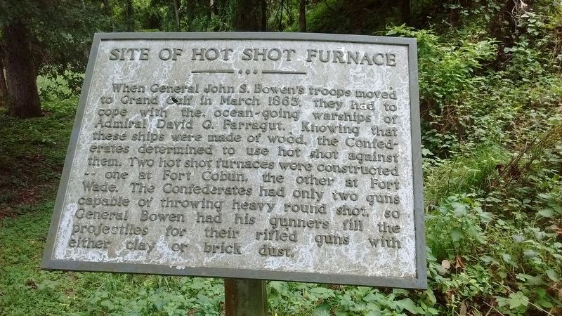 Site of Hot Shot Furnace Marker image. Click for full size.