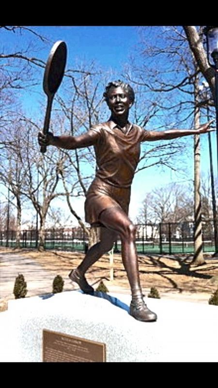 Althea Gibson Statue image. Click for full size.