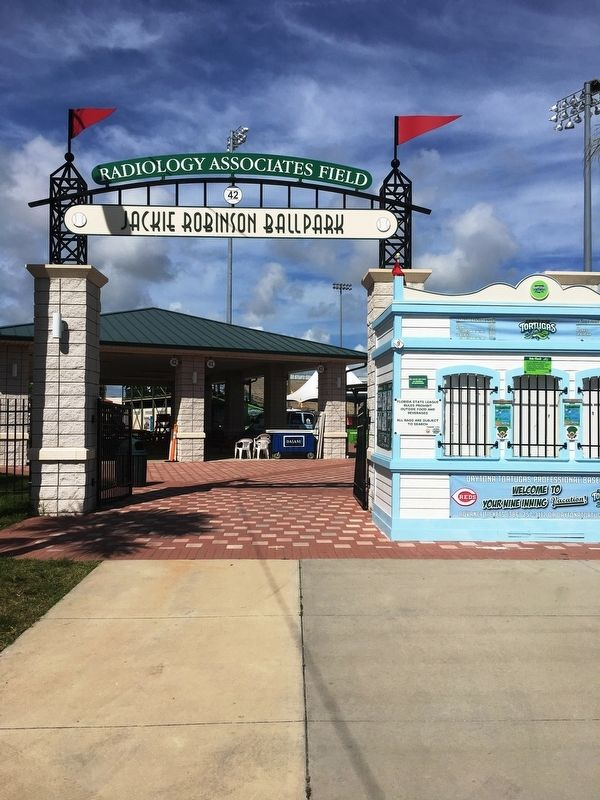 Jackie Robinson Ballpark Entrance image. Click for full size.