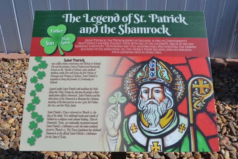 The Legend of St. Patrick and the Shamrock Marker image. Click for full size.