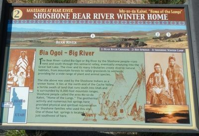 Shoshone Bear River Winter Home Marker image. Click for full size.