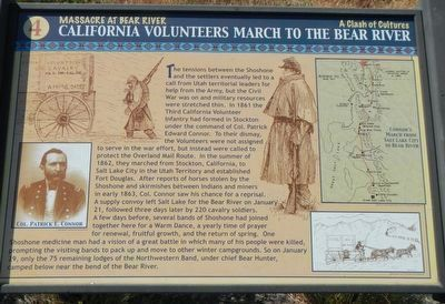 California Volunteers March to the Bear River Marker image. Click for full size.